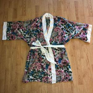 Victoria's Secret Gold Label VTG Floral Sheer Robe